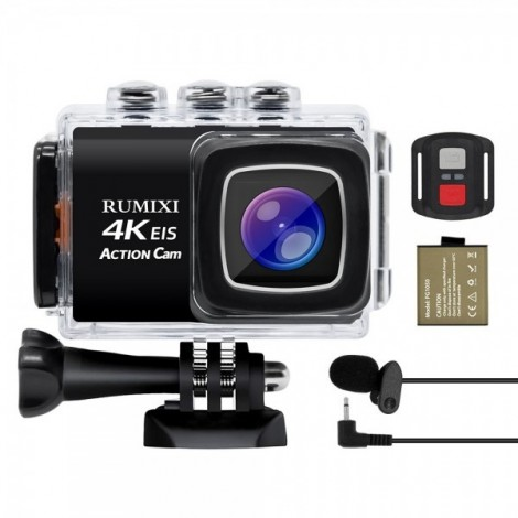 Action camera sports 4K remote control, WIFI, 30M under the water